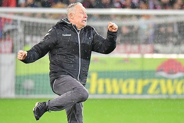 Fotos: So schön freute sich Streich über den Freiburger Sieg