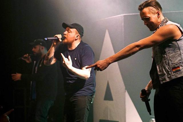 Ein Rap-Trio bringt den Saal zum kochen