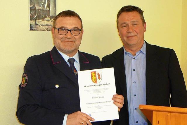 Dietmar Gempp ist Mappacher Ehrenkommandant