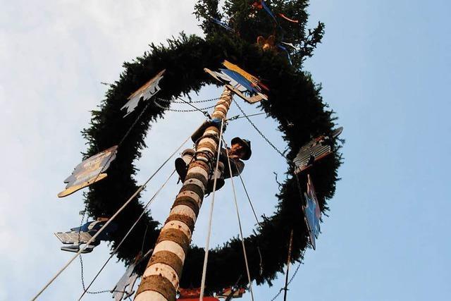 Narrenmeister Klaus-Peter Klein aus Weil am Rhein über die Tradition der Narrenbäume