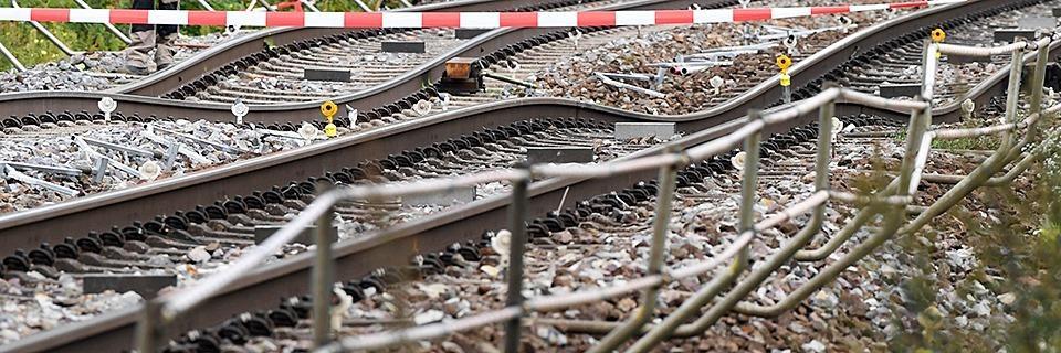 Gleise der Rheintalbahn senkten sich bereits vor der Tunnel-Havarie bei Rastatt leicht