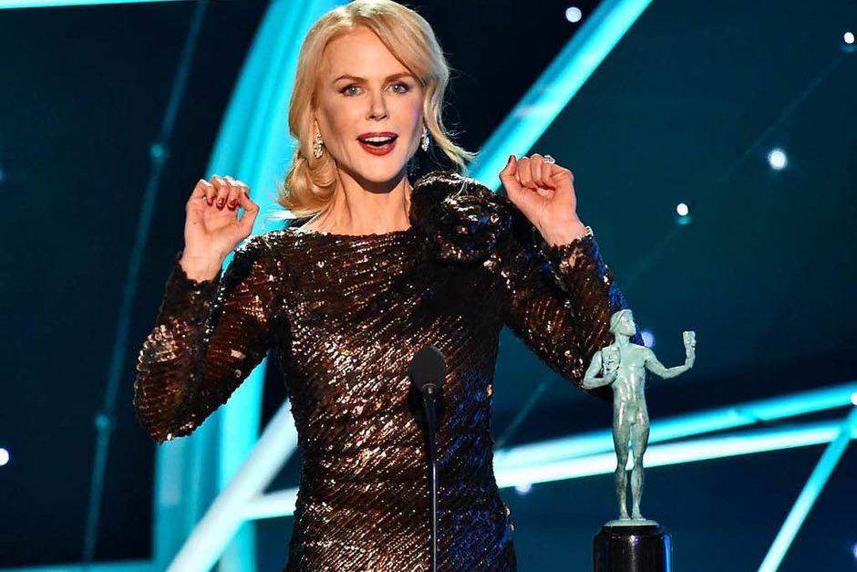 """Schauspielerin Nicole Kidman erhielt eine Auszeichnung für die beste Darstellerin in der Fernsehserie """"Big Little Lies"""" (Foto: dpa)"""