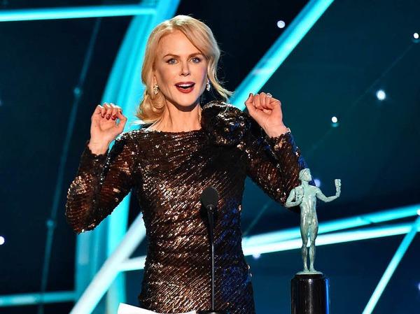 """Schauspielerin Nicole Kidman erhielt eine Auszeichnung für die beste Darstellerin in der Fernsehserie """"Big Little Lies"""""""