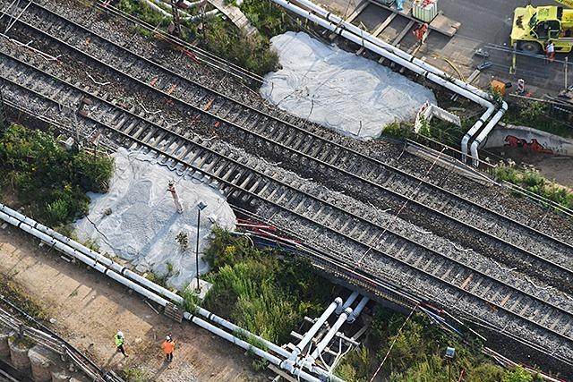 Gleise der Rheintalbahn senkten sich bereits vor Tunnel-Havarie