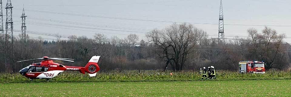Vier Tote bei Zusammenstoß zwischen Kleinflugzeug und Hubschrauber bei Philippsburg