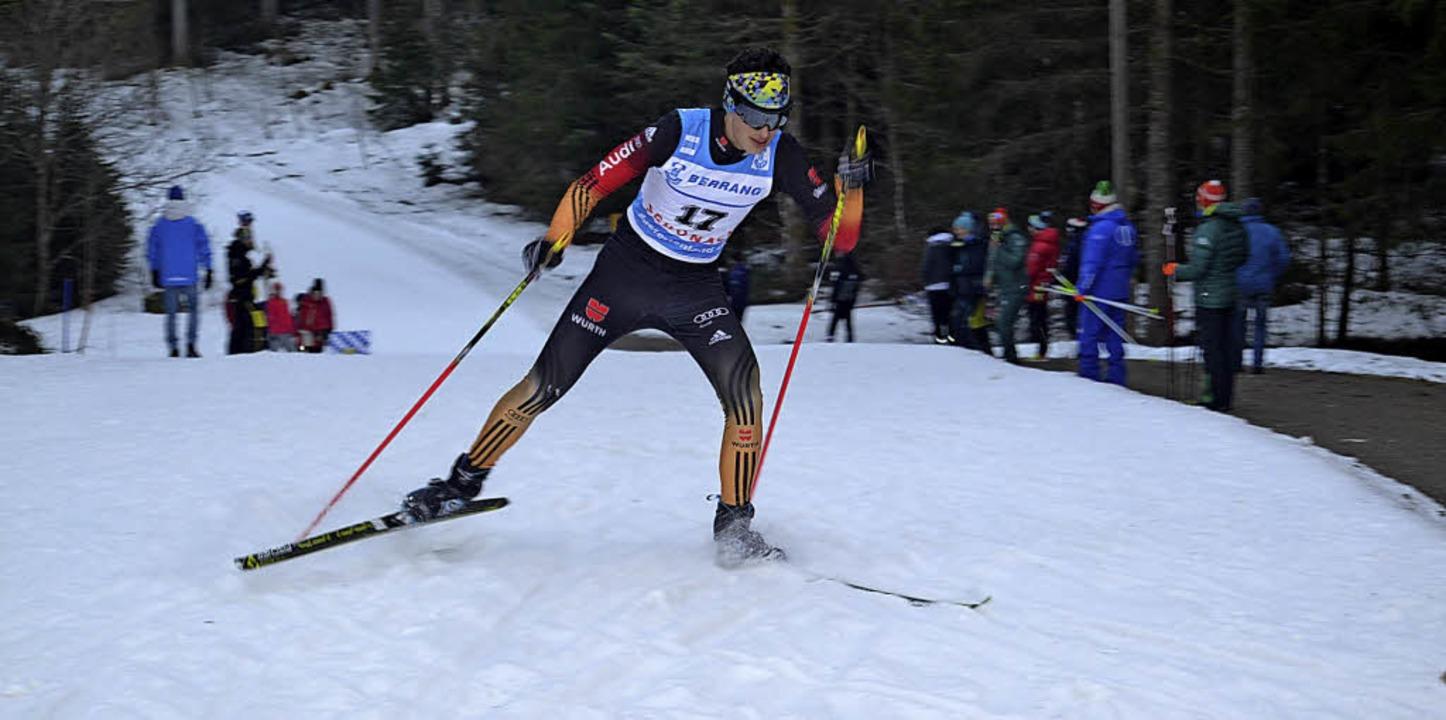 Eine Woche nach den Alpencup-Wettkämpf...itnauer Julian Ketterer Team-Silber.      Foto: junkel