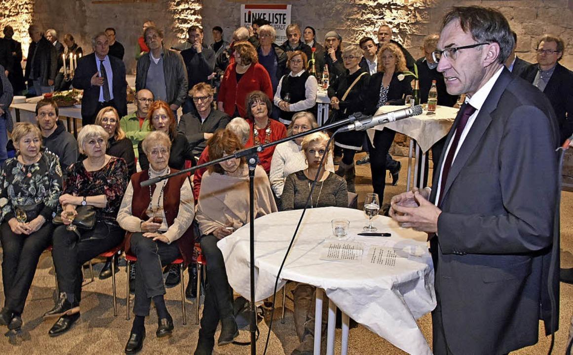Baubürgermeister Haag beim Neujahrsempfang der UL   | Foto: M. Bamberger