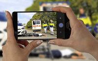 Wer Unfälle filmt, soll bestraft werden