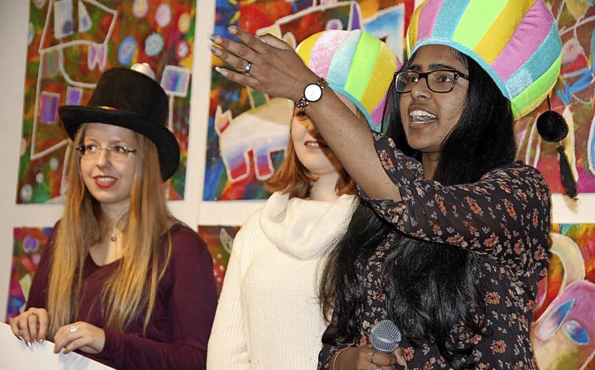 Das Schulkunstprojekt bereitete den Jugendlichen großen Spaß.     Foto: Frey