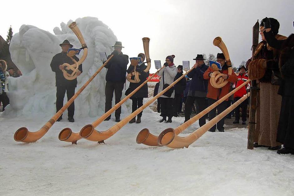 Fotos Schneeskulpturenfestival in Bernau 2018. (Foto: Claudia Renk)