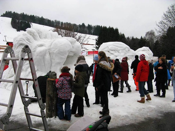 Fotos Schneeskulpturenfestival in Bernau 2018.