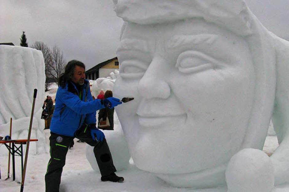 Fotos Schneeskulpturenfestival in Bernau 2018. (Foto: Ulrike Spiegelhalter)