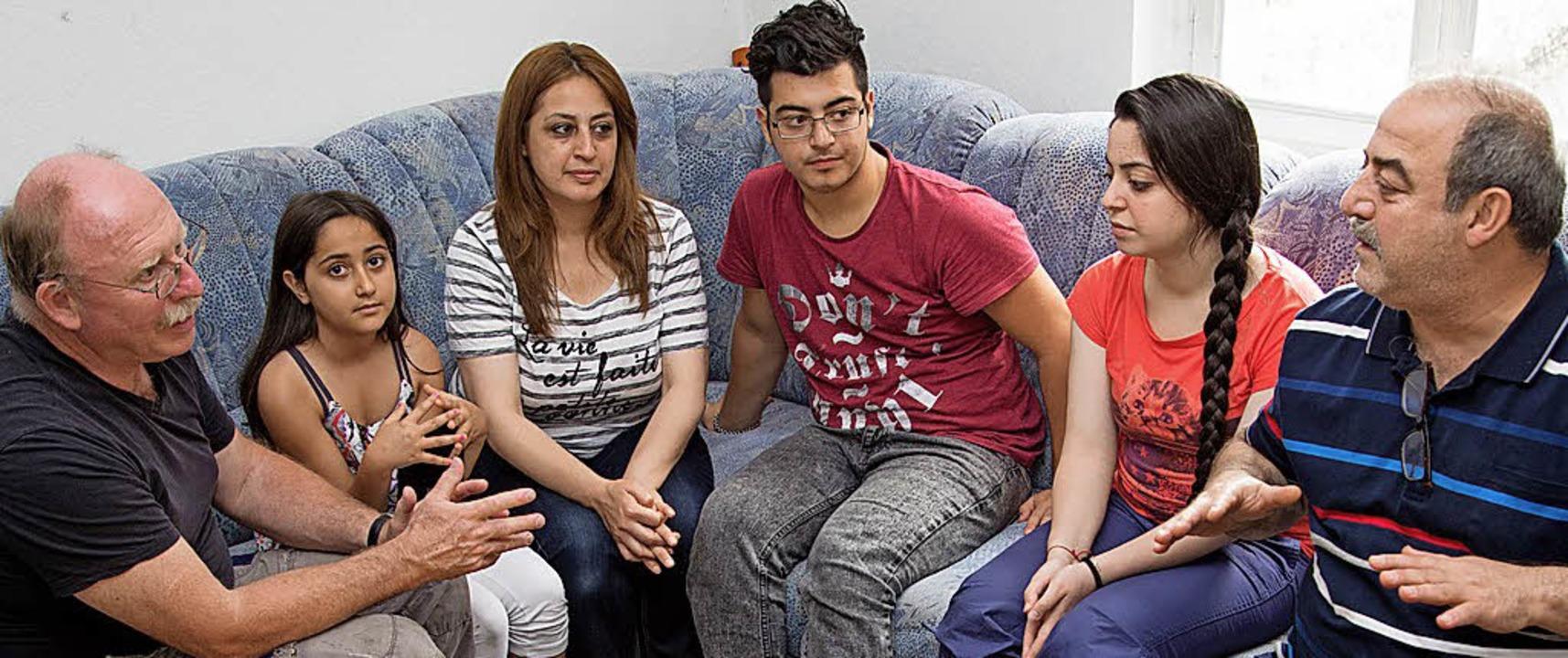 Eine syrische Familie in Paderborn   | Foto: DPA