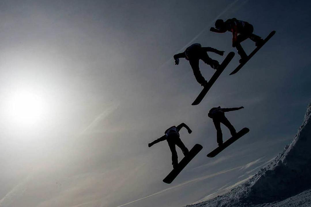 Snowboarder am Feldberg beim Weltcup im vergangenen Jahr  | Foto: dpa