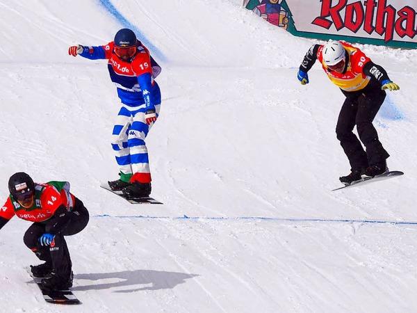 Am Wochenende war im Hochschwarzwald die Weltelite der Snowboardcrosser zu Gast. Der Feldberg punktete mit Schnee und Sonne satt.