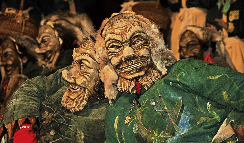 Auch die Fährigeister Murg waren beim ...einischer Narrenzünfte  in Murg dabei.  | Foto: Hildegard Siebold