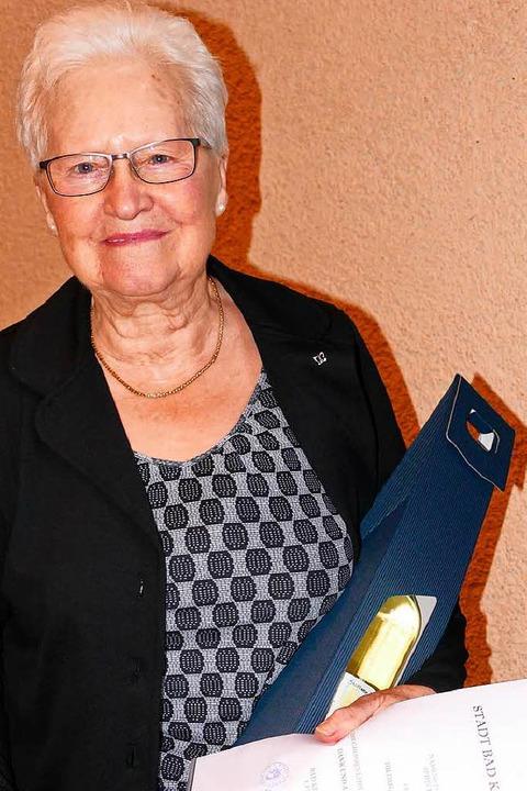 Ehrungen beim Bürgerneujahrsempfang  B...gard Maier vom Seniorenwerk in Schlatt  | Foto: Susanne Müller