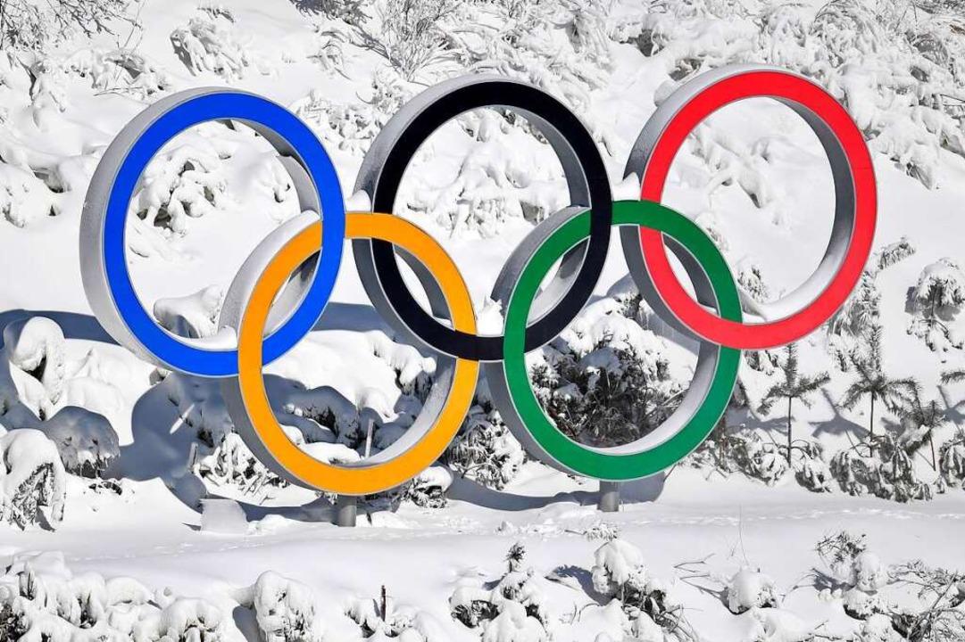 Olympische Ringe in riesig: Dieses Bil...sia-Skilanglauf-Zentrum in Pyeongchang  | Foto: dpa