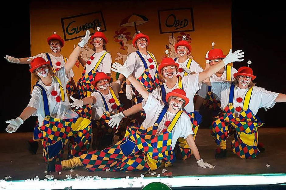 Die Gluggere als Clowns (Foto: Tina Hättich)