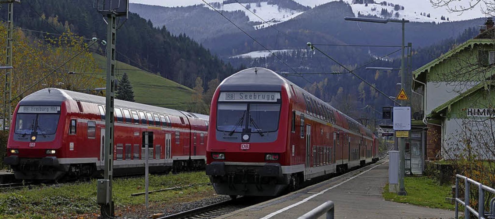 Statt Zügen werden ab Anfang März Ersatzbusse im Höllental unterwegs sein.   | Foto:  Markus Donner