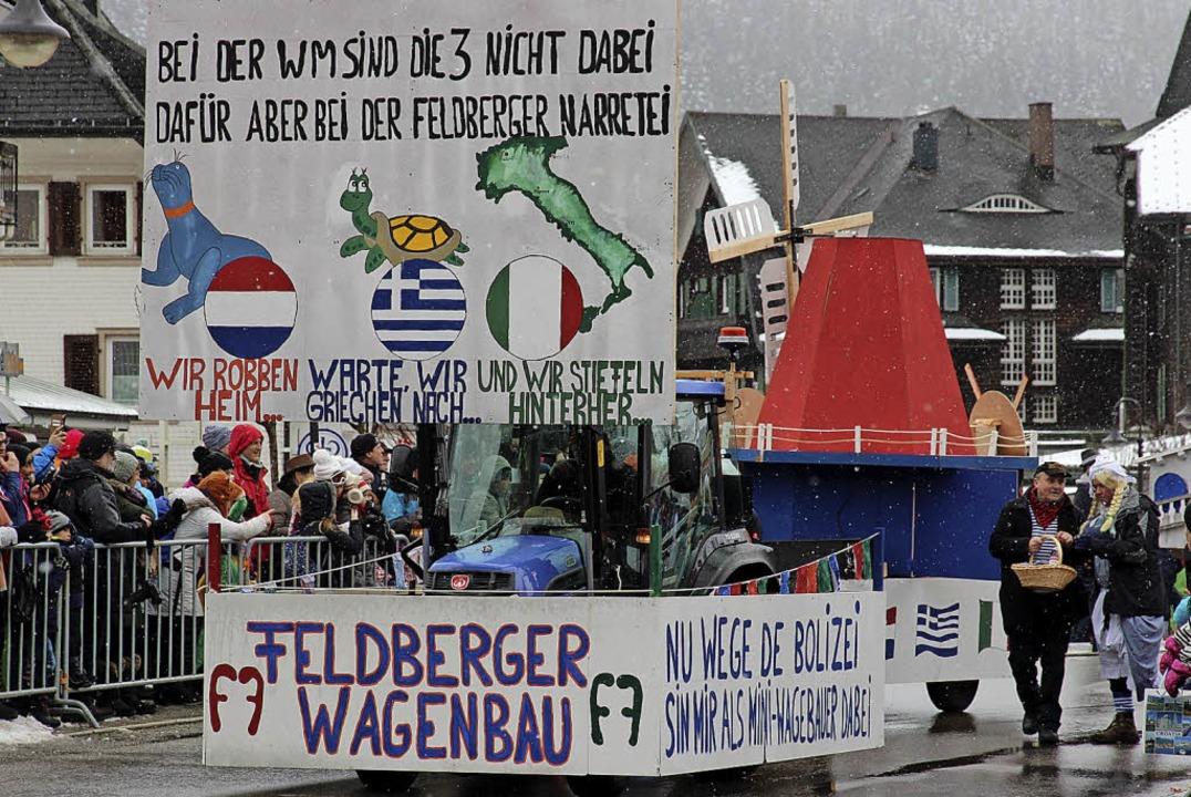 Die Feldberger Wagenbauer konnten es nicht lassen.  | Foto: Eva Korinth
