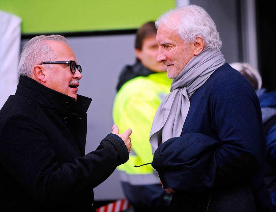 Da trug er den Bart noch: Fritz Keller...des SC Freiburg gegen Bayer Leverkusen  | Foto: Meinrad Schön