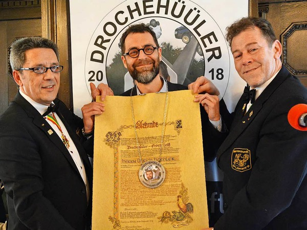 Ulrich Höhler erhielt den Drochenhüüler-Orden.