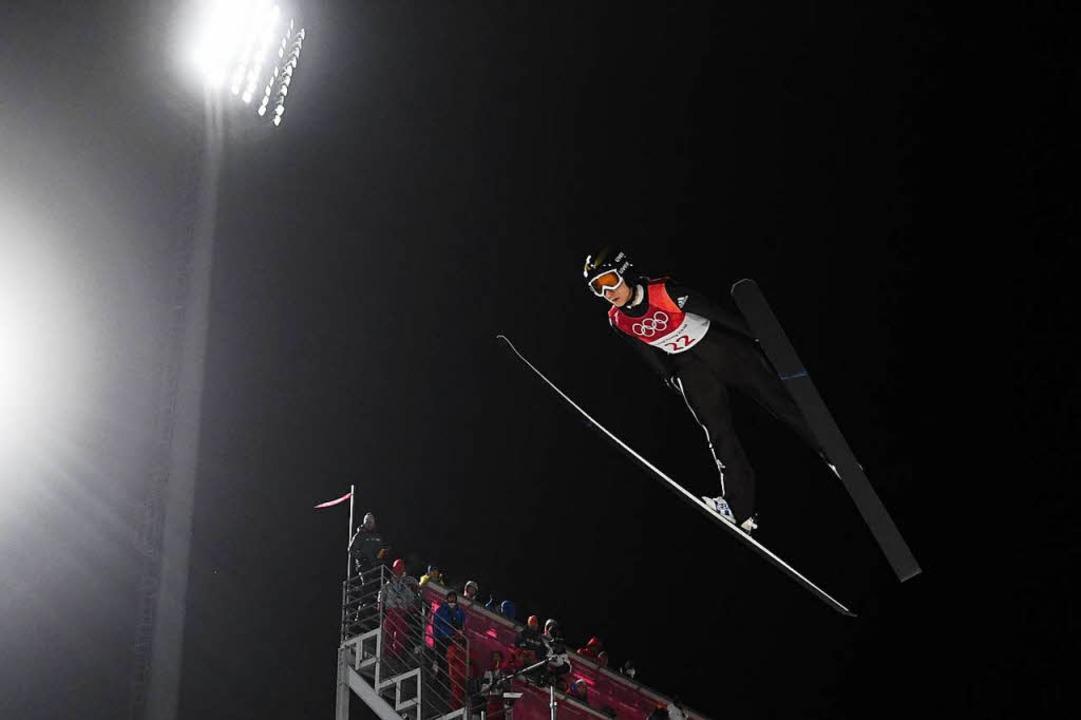 Ramona Straub vom SC Langenordnach lan...ersten Olympia-Teilnahme auf Rang acht  | Foto: AFP