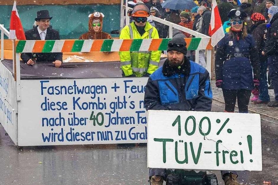 Buntes Narrentreiben herrschte beim Fasnachtsumzug in Grafenhausen. (Foto: Wilfried Dieckmann)