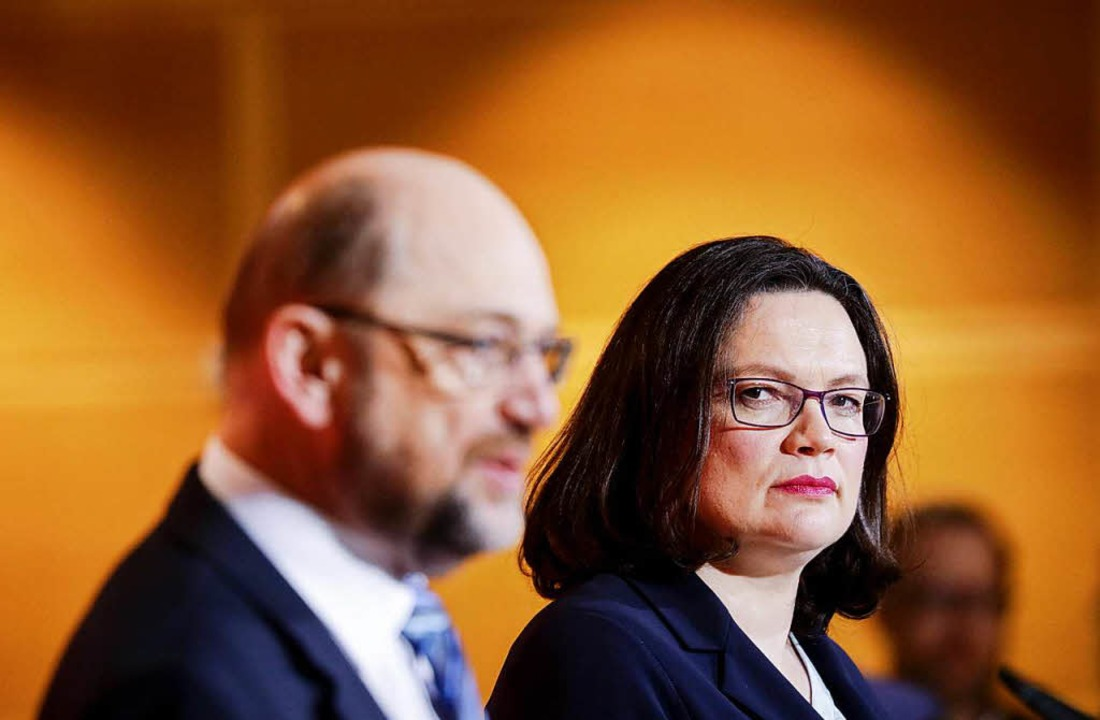 Die Pläne der SPD-Spitze zur raschen Ü...toßen intern zunehmend auf Widerstand.  | Foto: dpa