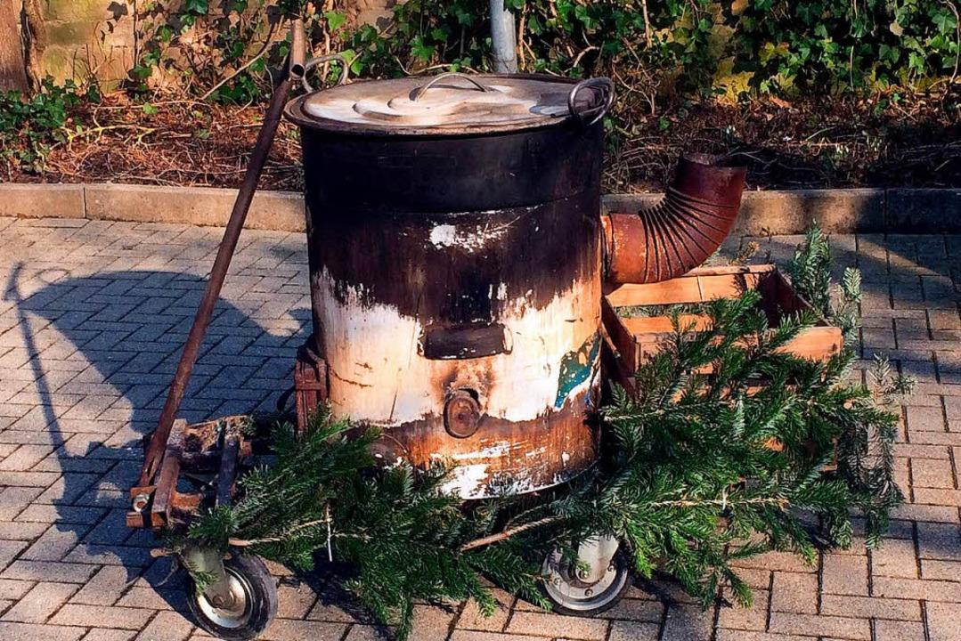 Der Kessel, in dem sich die Frau beim Eppinger Nachtumzug verbrannte  | Foto: dpa
