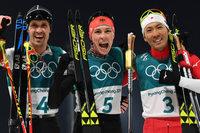 Kombinierer Eric Frenzel läuft zur Goldmedaille