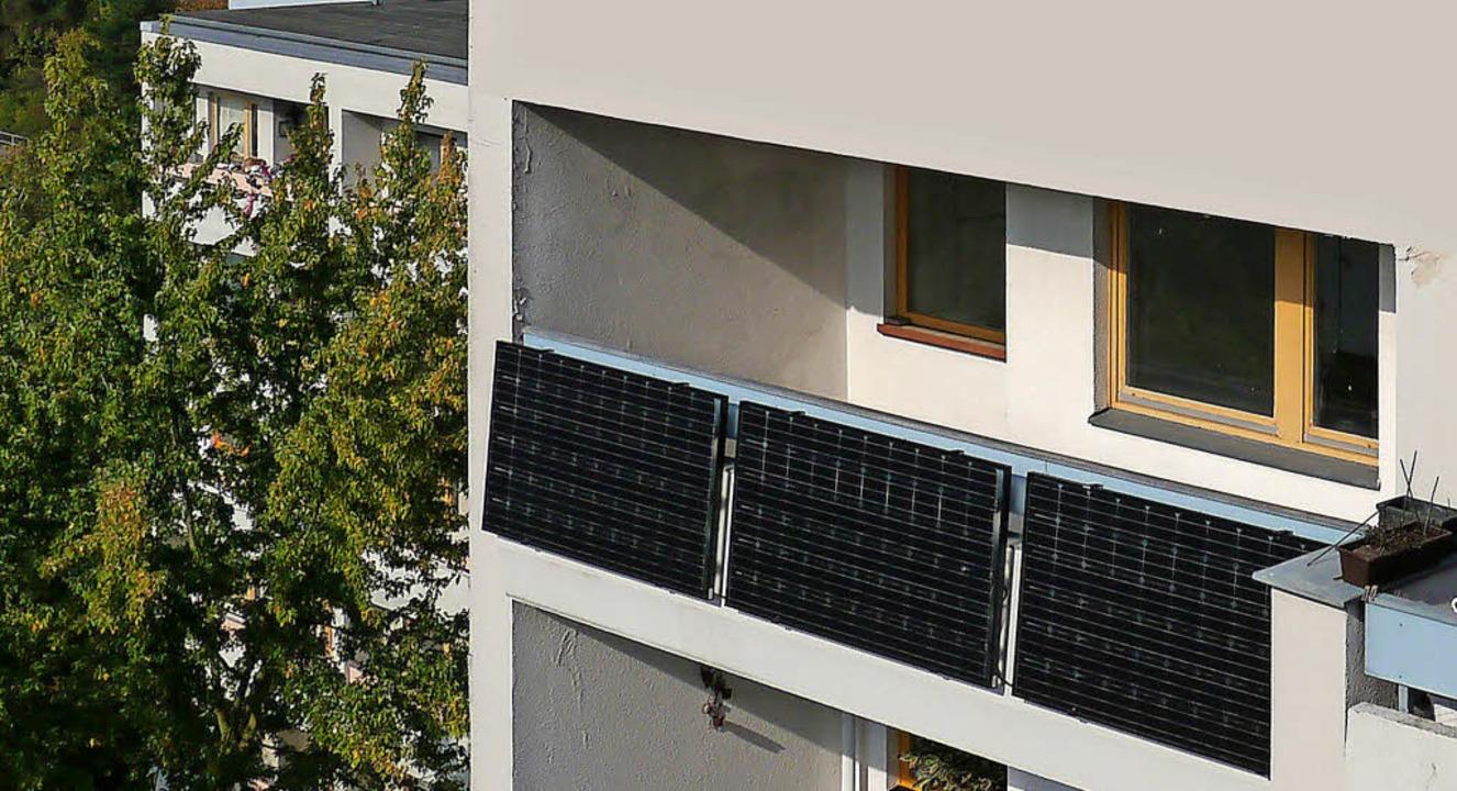 strom von balkon oder terrasse haus garten badische. Black Bedroom Furniture Sets. Home Design Ideas