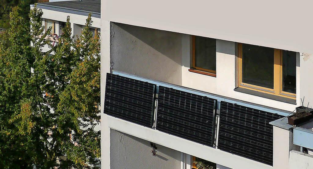 strom von balkon oder terrasse haus garten badische zeitung. Black Bedroom Furniture Sets. Home Design Ideas