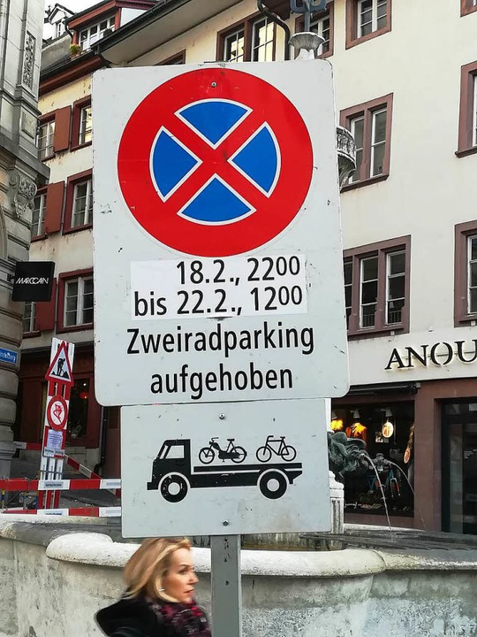 Die Parkbereiche für Fahrräder müssen auch weichen.  | Foto: Daniel Gramespacher