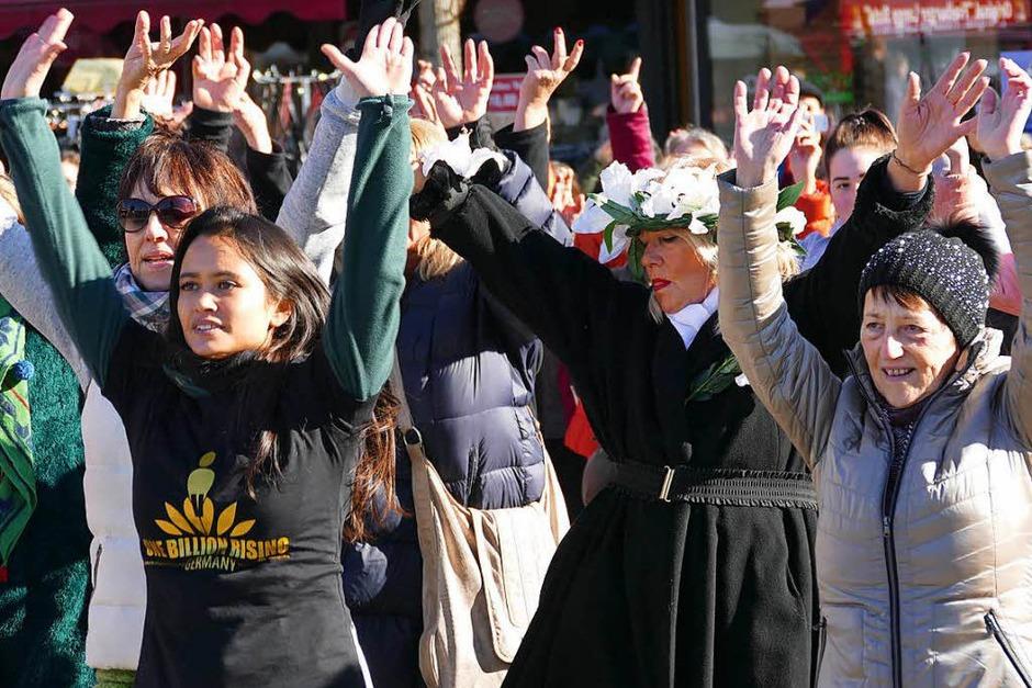 Alle Altersgruppen waren vertreten. Vorne links: Schallstadts Jugendreferentin Lena Oschowitzer. (Foto: Hans-Peter Müller)