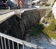 """Die Stützmauer am Dreispitz ist """"akut gefährdet"""""""