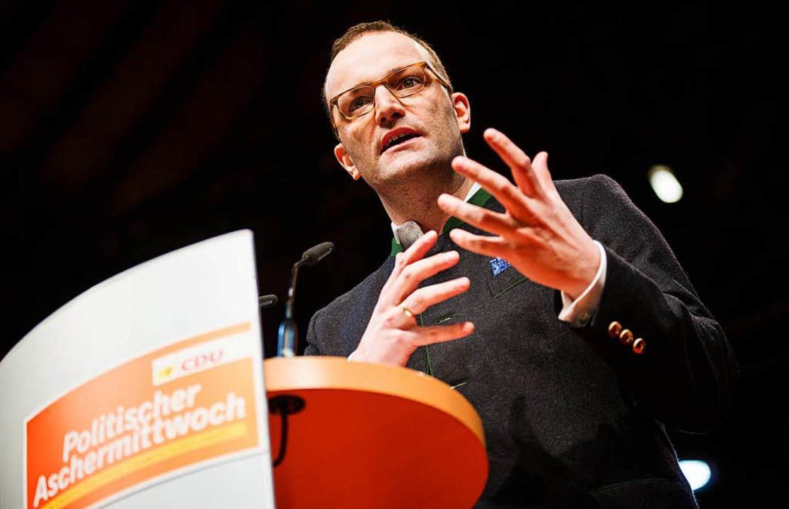 Plädiert in Fellbach für eine Leitkultur: CDU-Hoffnungsträger Jens Spahn   | Foto: dpa