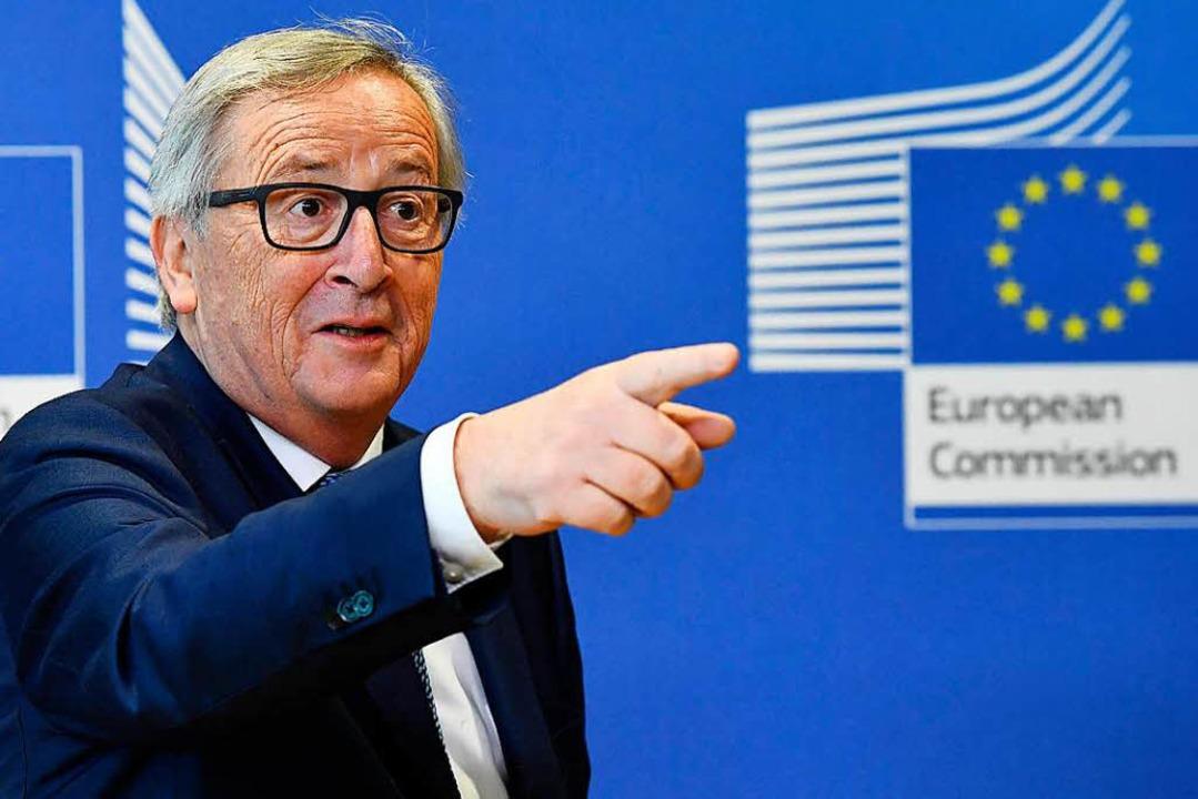 EU-Kommissionspräsident Jean-Claude Ju... der EU den Weg in die Zukunft weisen.  | Foto: AFP