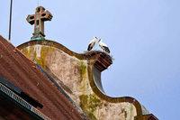 Das Storchennest auf der Kirche ist verschwunden