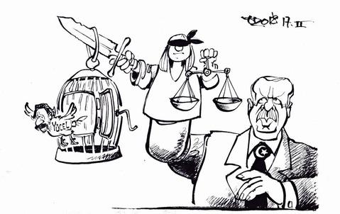 Es lebe die unabhängige Justiz! Zeichnung: Haitzinger