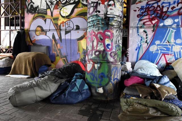 In Freiburg leben rund 50 Menschen auf der Straße - auch im Winter