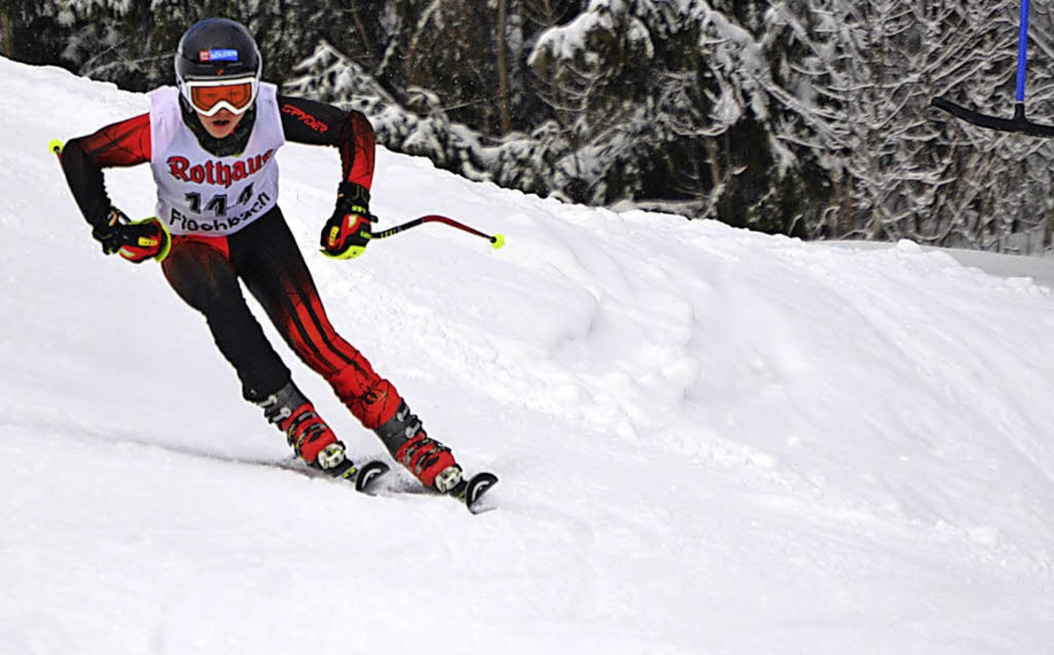 Sieger in  der Schülerklasse: Finn-Luca Maier vom SC Fischbach  | Foto: junkel
