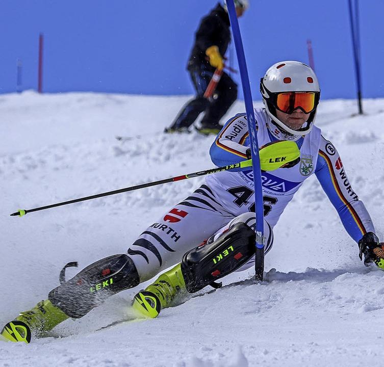 Souveräne Schräglage: Slalomsieger Urs Rotkamm  | Foto: siegmund