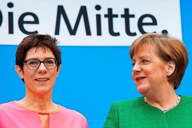 Merkel stellt mit Personalie Kramp-Karrenbauer Weichen