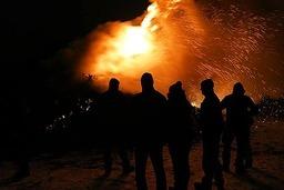 Fasnetfeuer in Gündelwangen