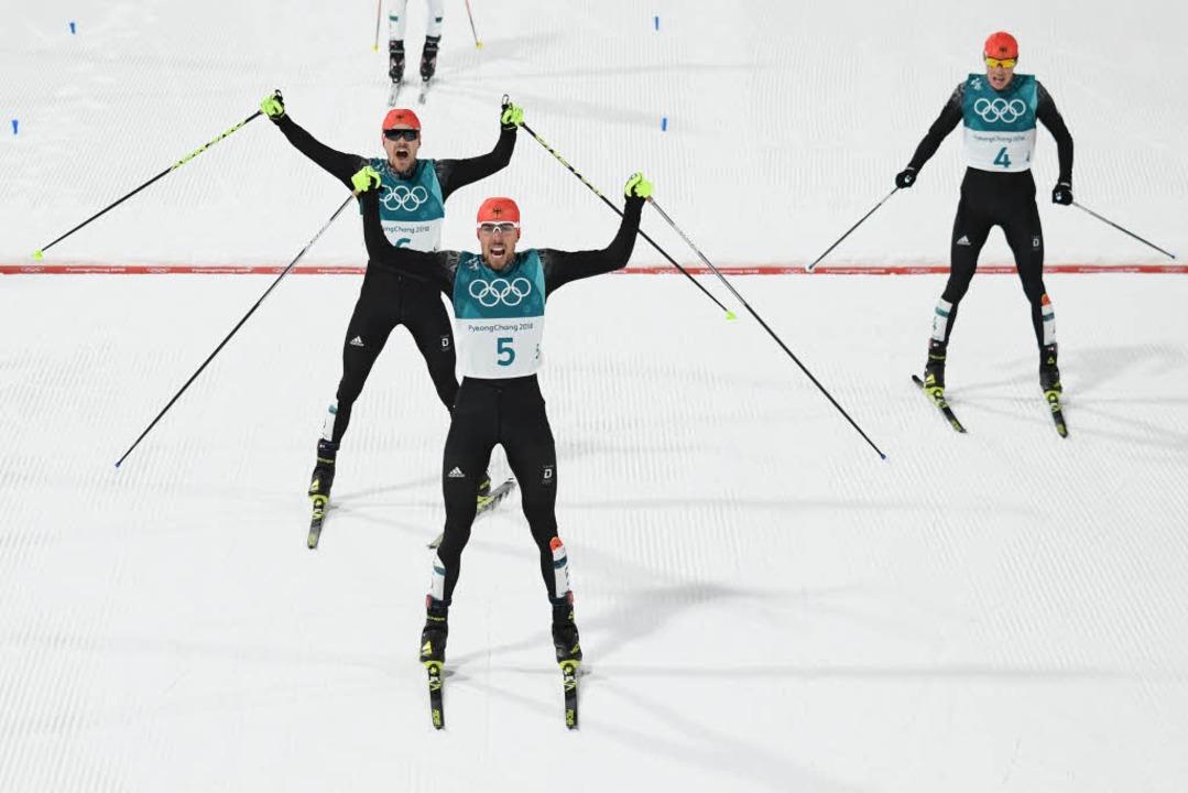 Historischer Dreifach-Triumph für deutsche Kombinierer - Rydzek siegt