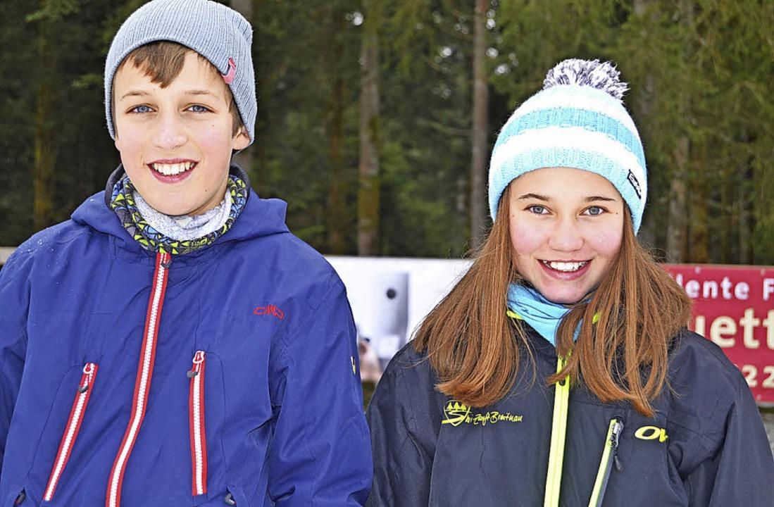 Jannis Dold (links) vom SC St. Märgen ...r SZ Breitnau wurde Achte und Zehnte.   | Foto: Helmut Junkel