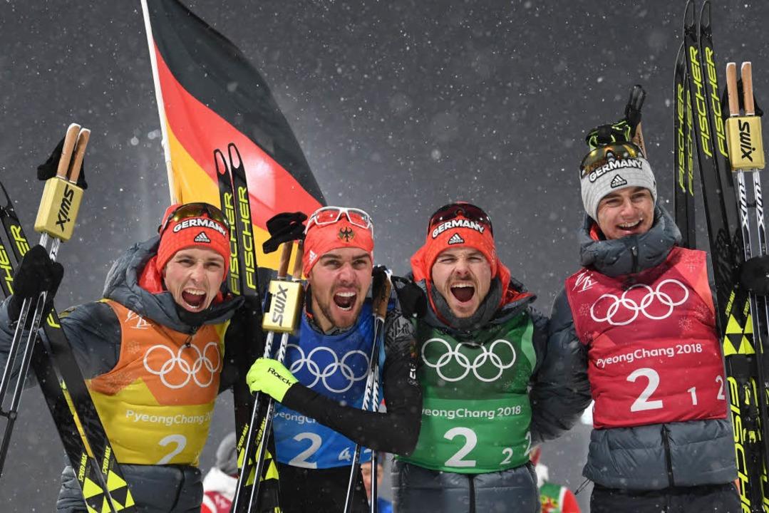 Olympia: Kombinierer feiern dritte Gold-Medaille
