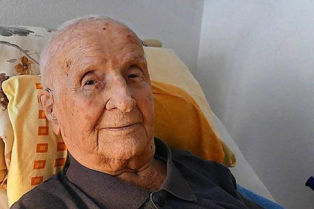 Erhard Springer aus Grenzach-Wyhlen wird 103 Jahre alt